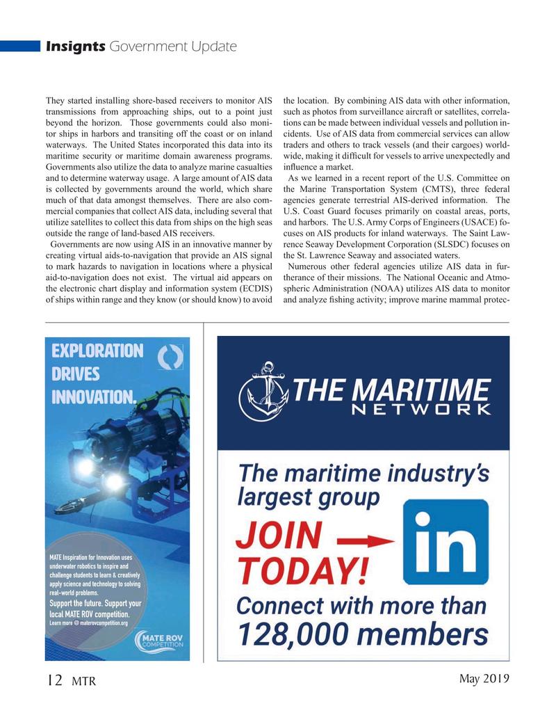 Marine Technology Magazine, page 12,  May 2019