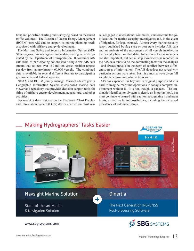 Marine Technology Magazine, page 13,  May 2019