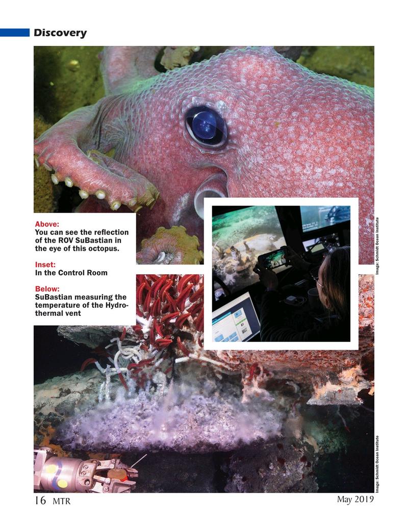 Marine Technology Magazine, page 16,  May 2019