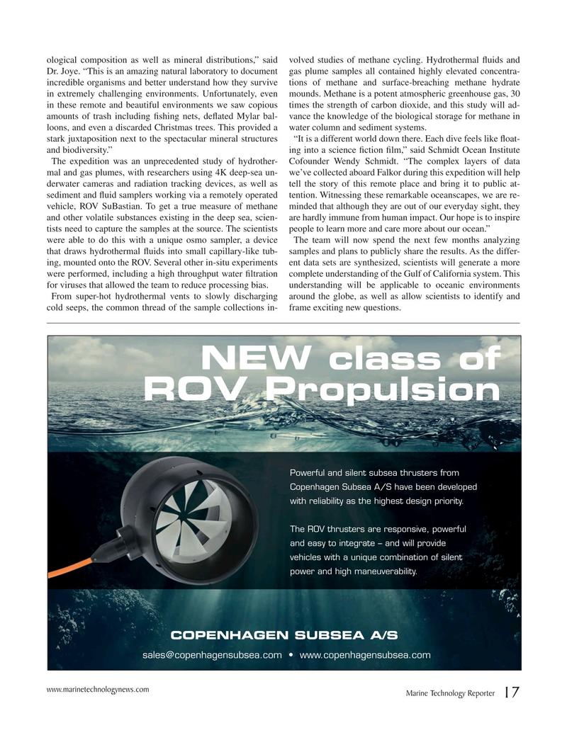 Marine Technology Magazine, page 17,  May 2019