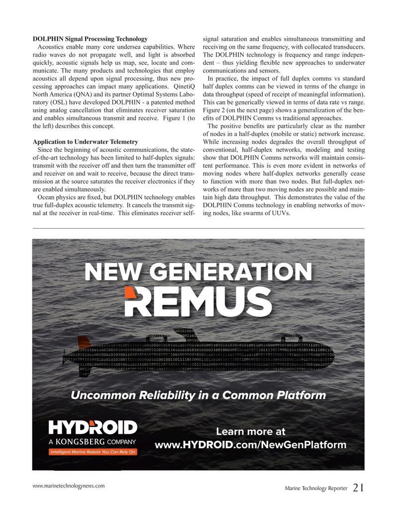Marine Technology Magazine, page 21,  May 2019