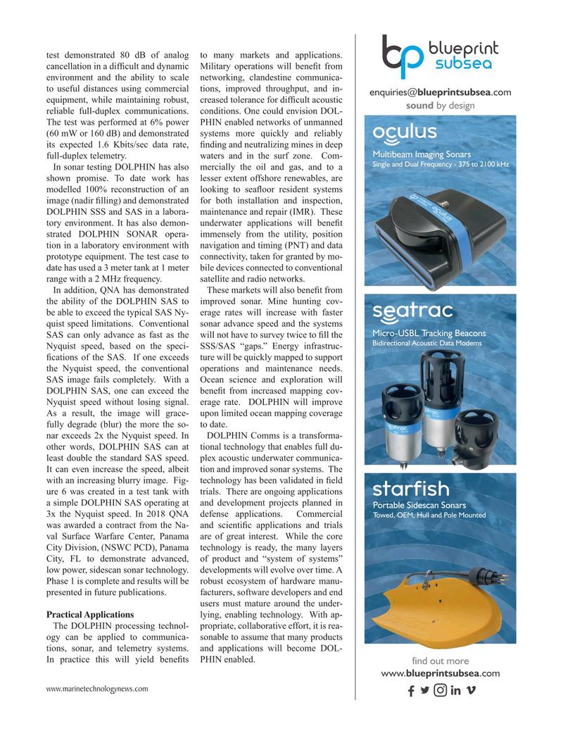 Marine Technology Magazine, page 25,  May 2019