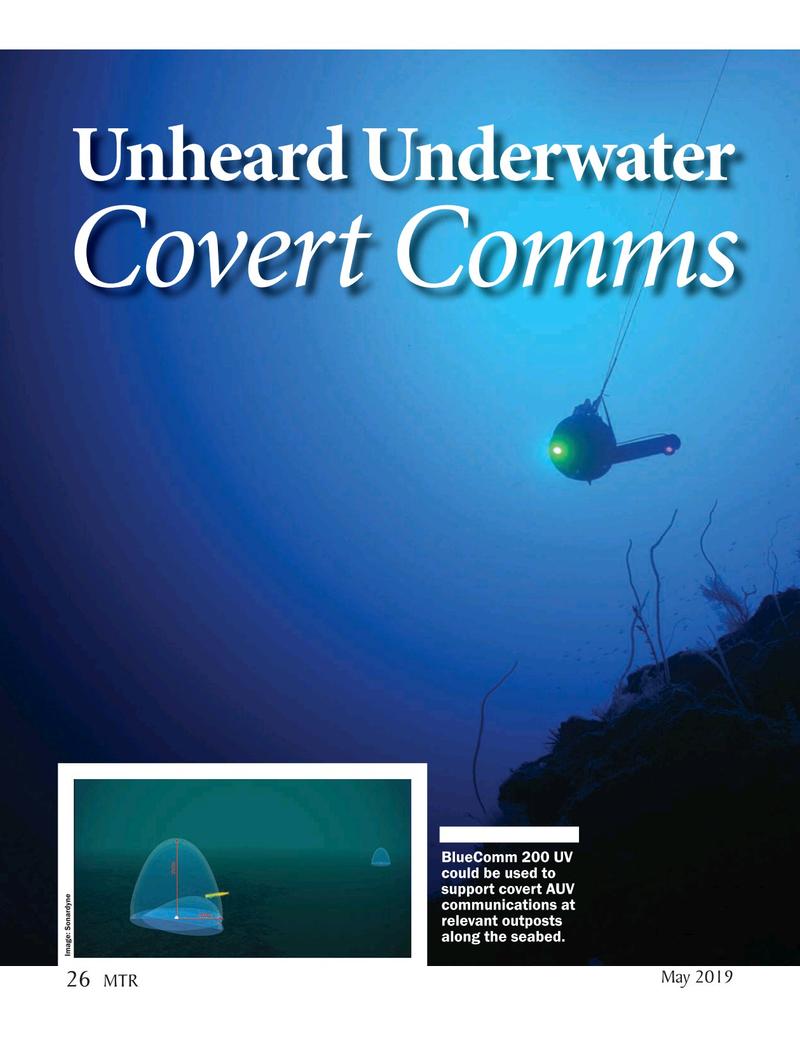 Marine Technology Magazine, page 26,  May 2019