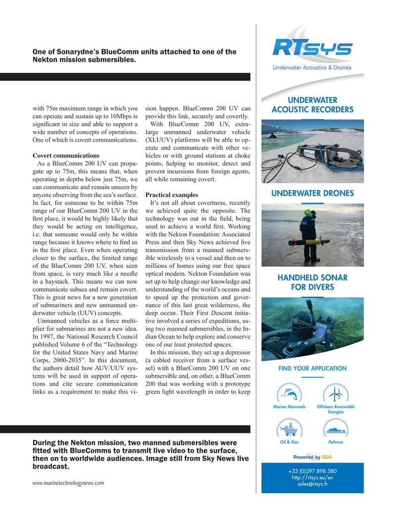 Marine Technology Magazine, page 31,  May 2019