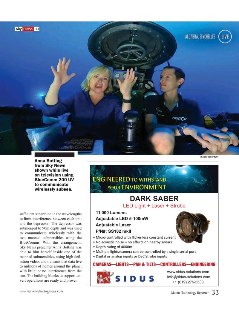 Marine Technology Magazine, page 33,  May 2019