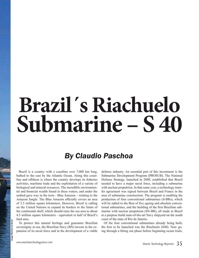 Marine Technology Magazine, page 35,  May 2019