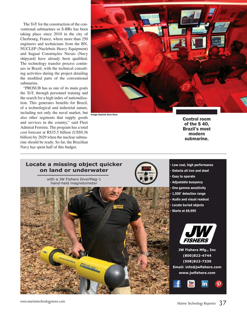Marine Technology Magazine, page 37,  May 2019