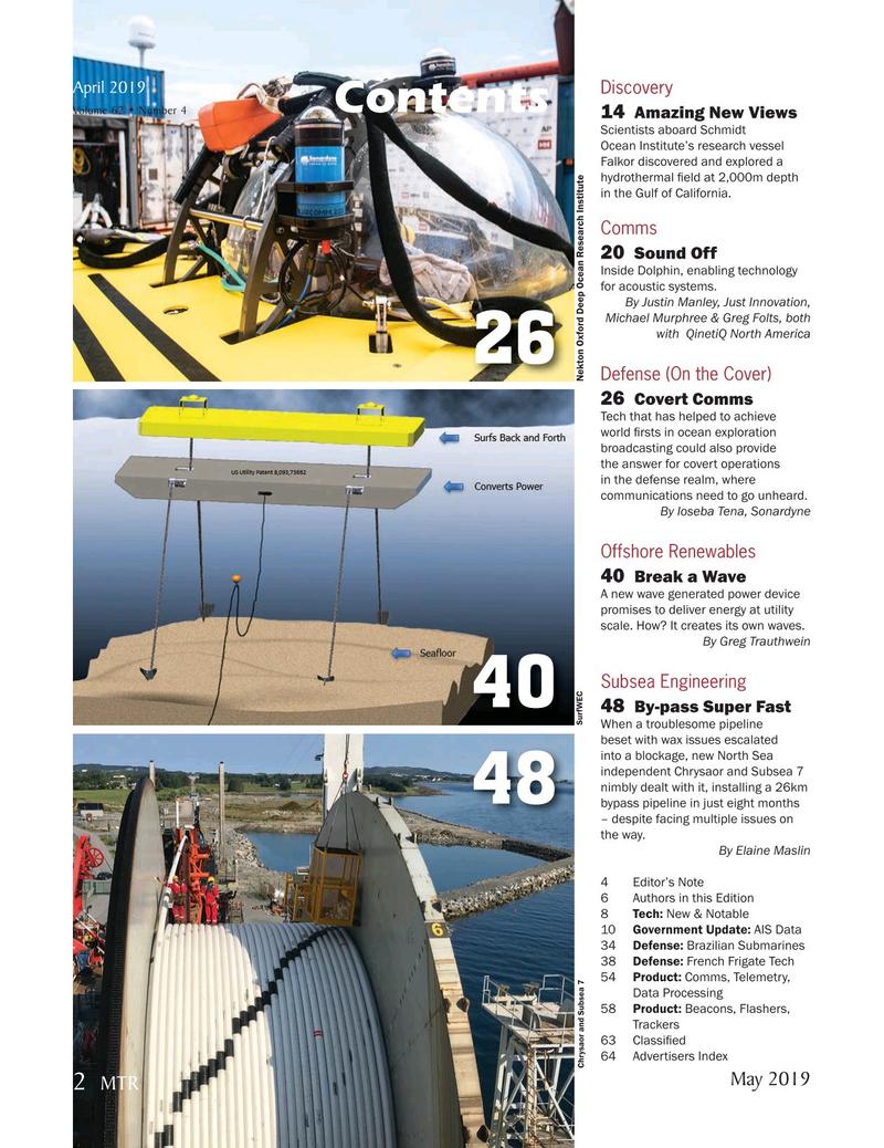 Marine Technology Magazine, page 2,  May 2019