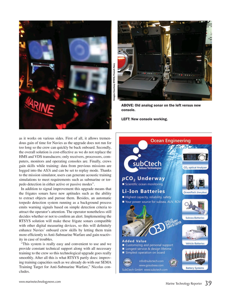 Marine Technology Magazine, page 39,  May 2019