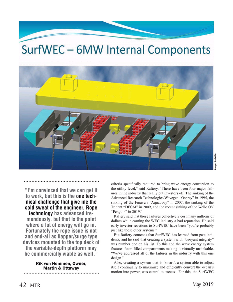 Marine Technology Magazine, page 42,  May 2019