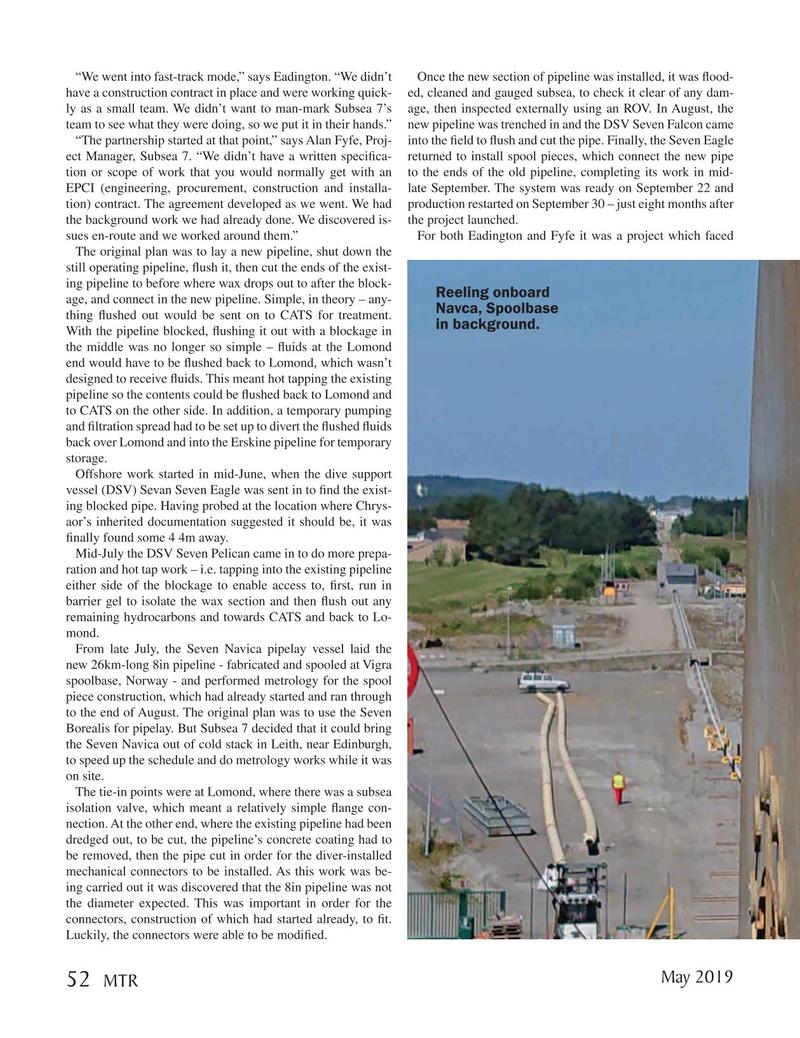 Marine Technology Magazine, page 52,  May 2019