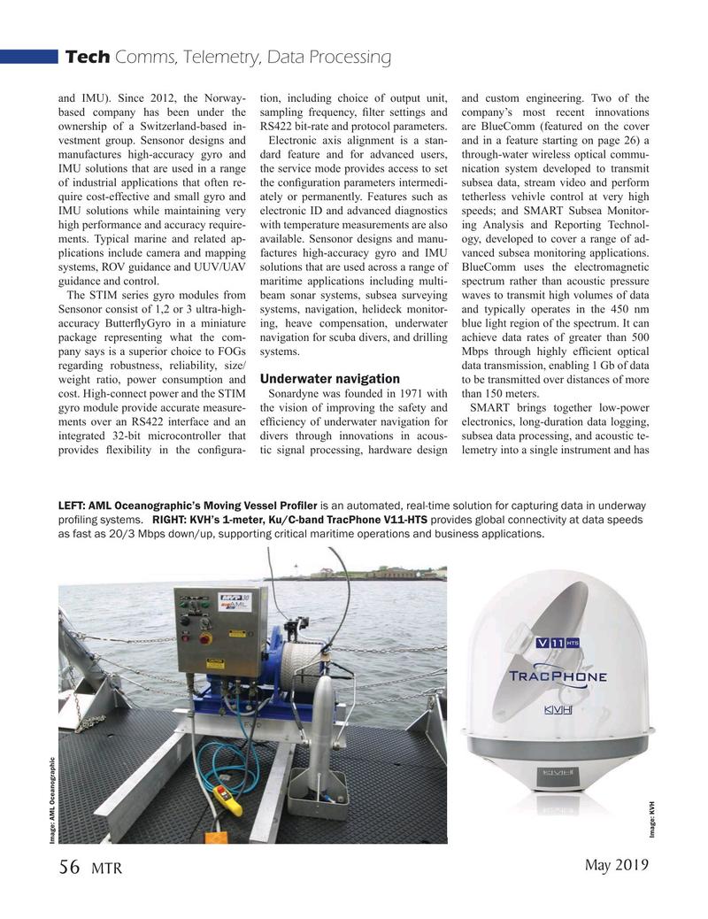 Marine Technology Magazine, page 56,  May 2019