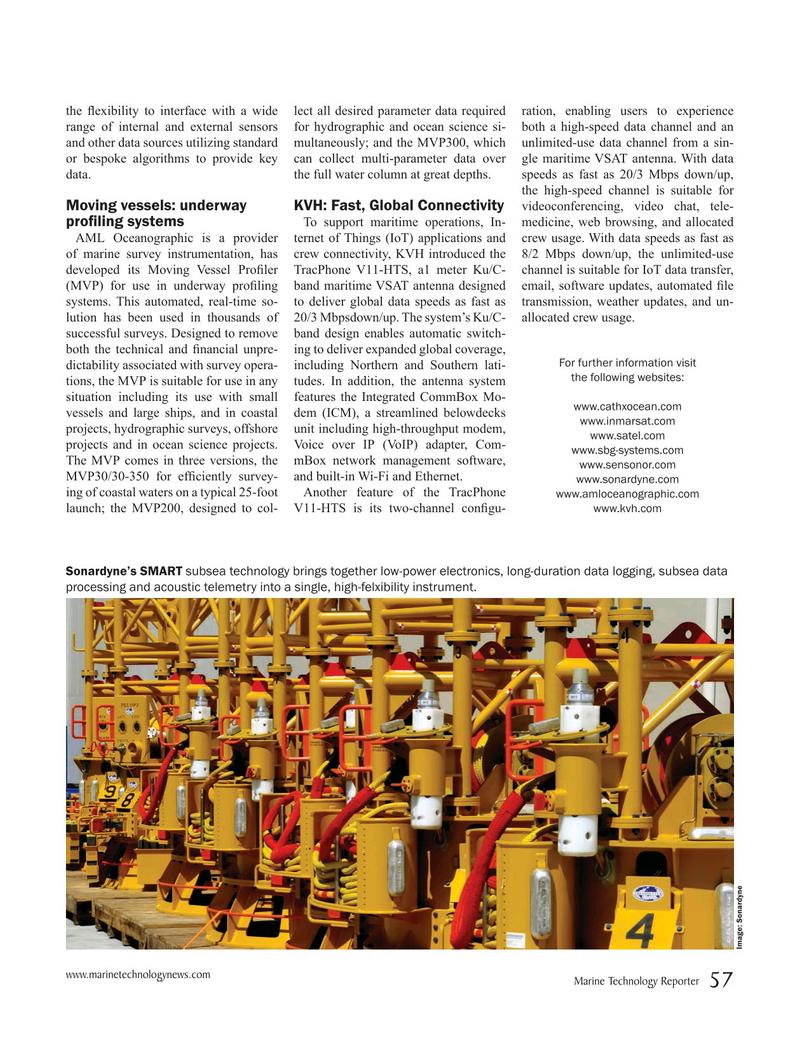 Marine Technology Magazine, page 57,  May 2019