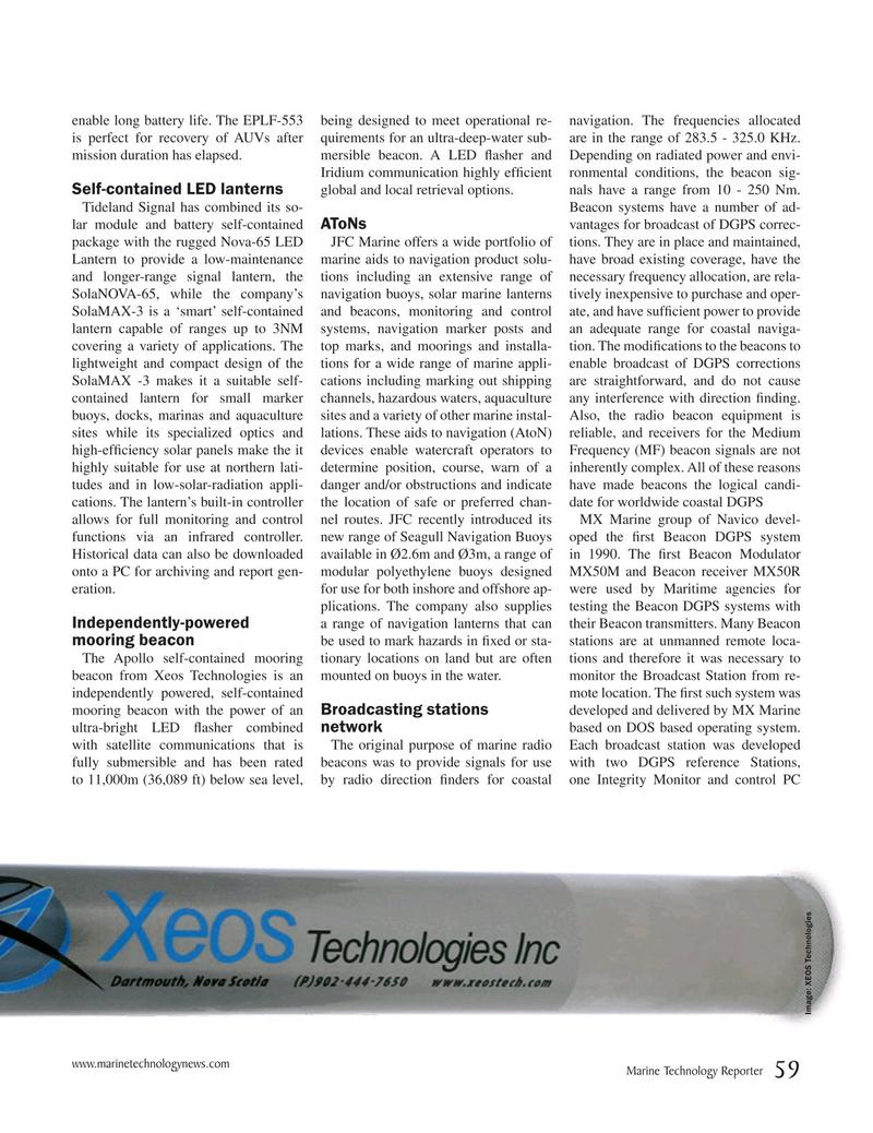 Marine Technology Magazine, page 59,  May 2019