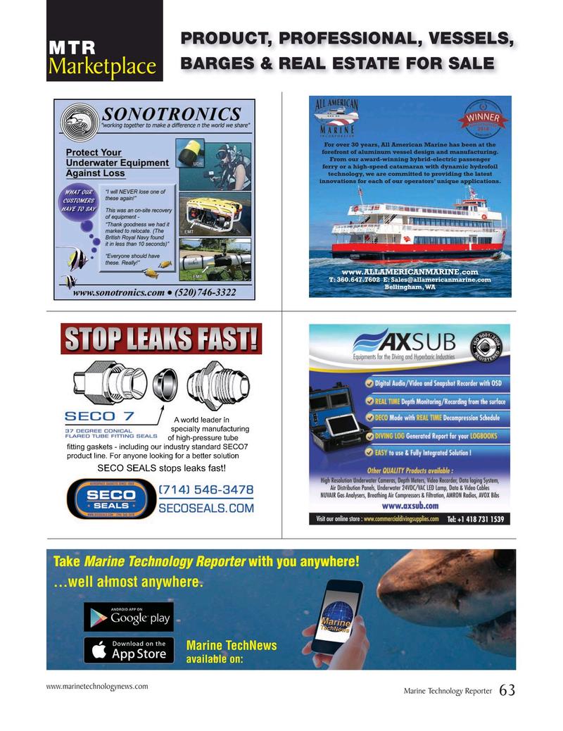 Marine Technology Magazine, page 63,  May 2019