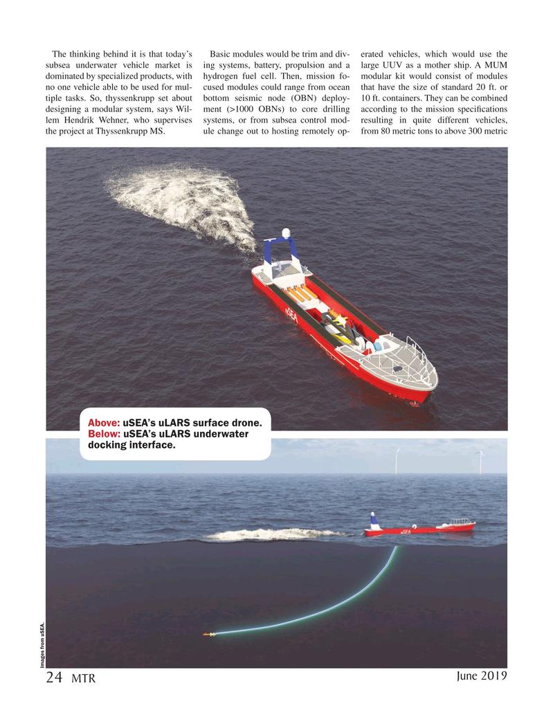 Marine Technology Magazine, page 24,  Jun 2019