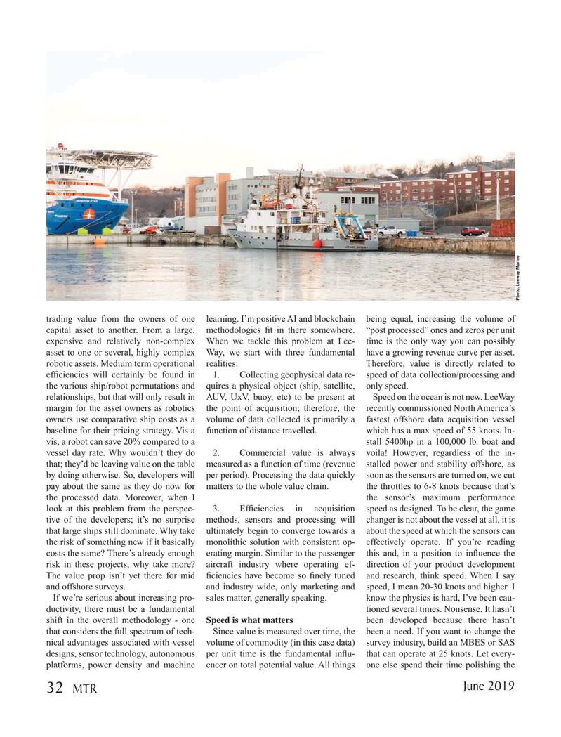 Marine Technology Magazine, page 32,  Jun 2019