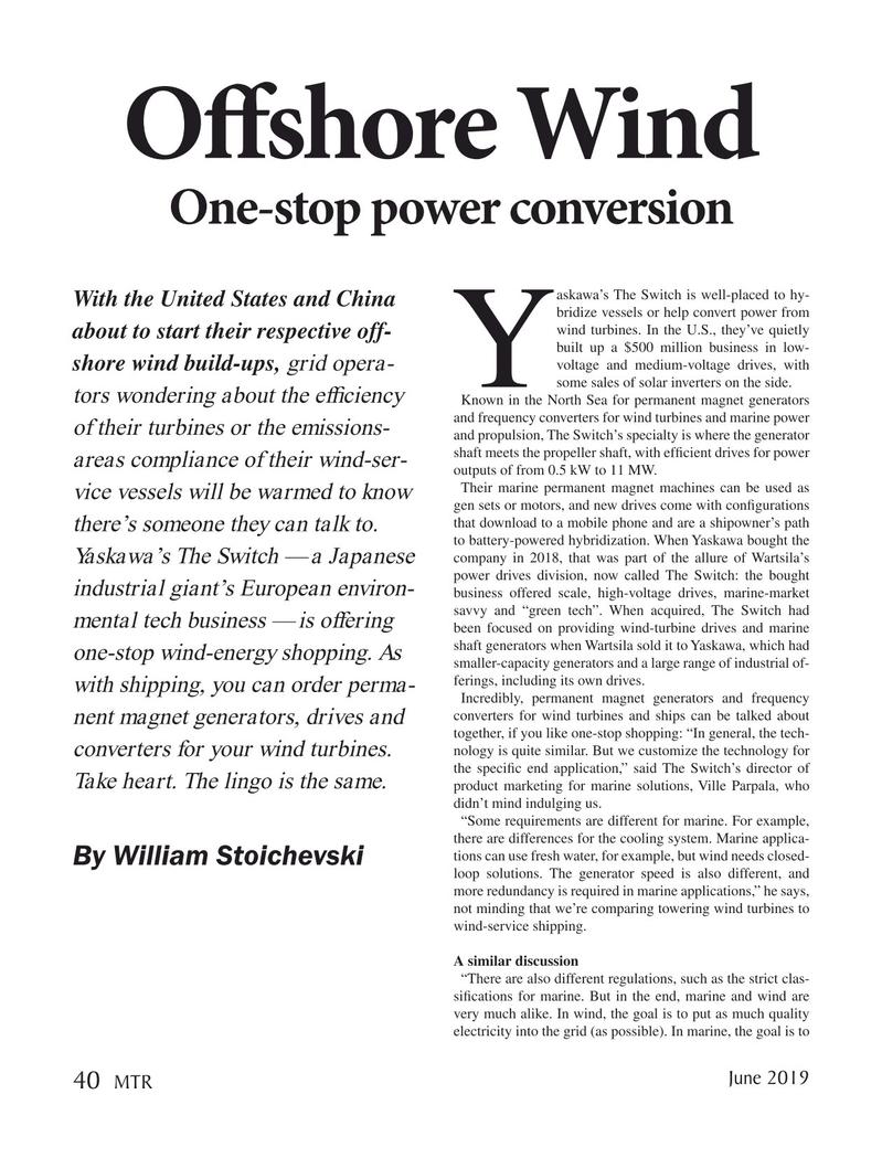 Marine Technology Magazine, page 40,  Jun 2019