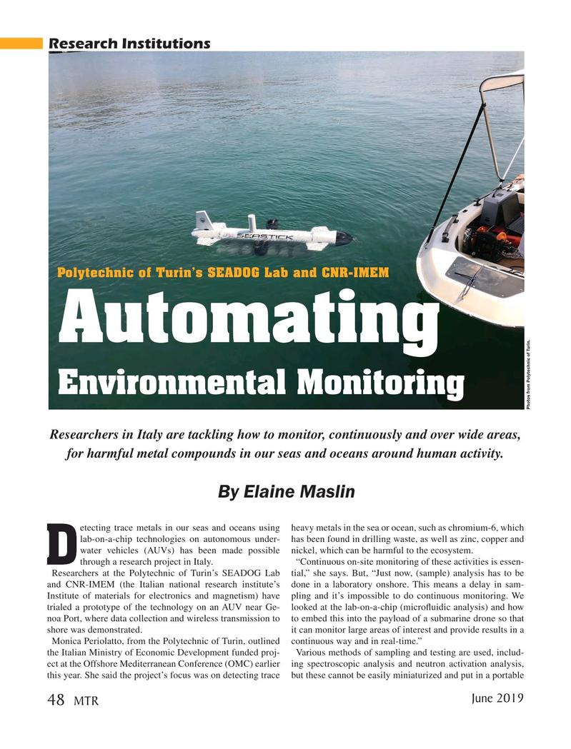 Marine Technology Magazine, page 48,  Jun 2019