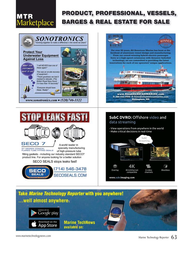 Marine Technology Magazine, page 63,  Jun 2019