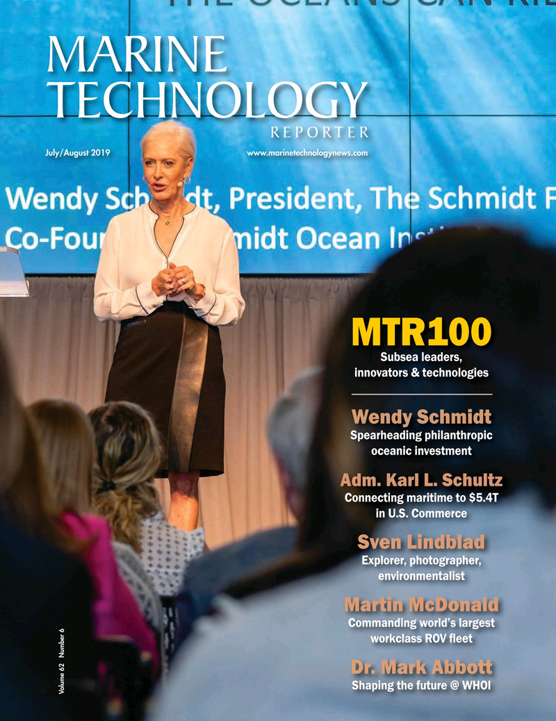 Marine Technology Magazine Cover Jul 2019 - MTR White Papers: Hydrographic
