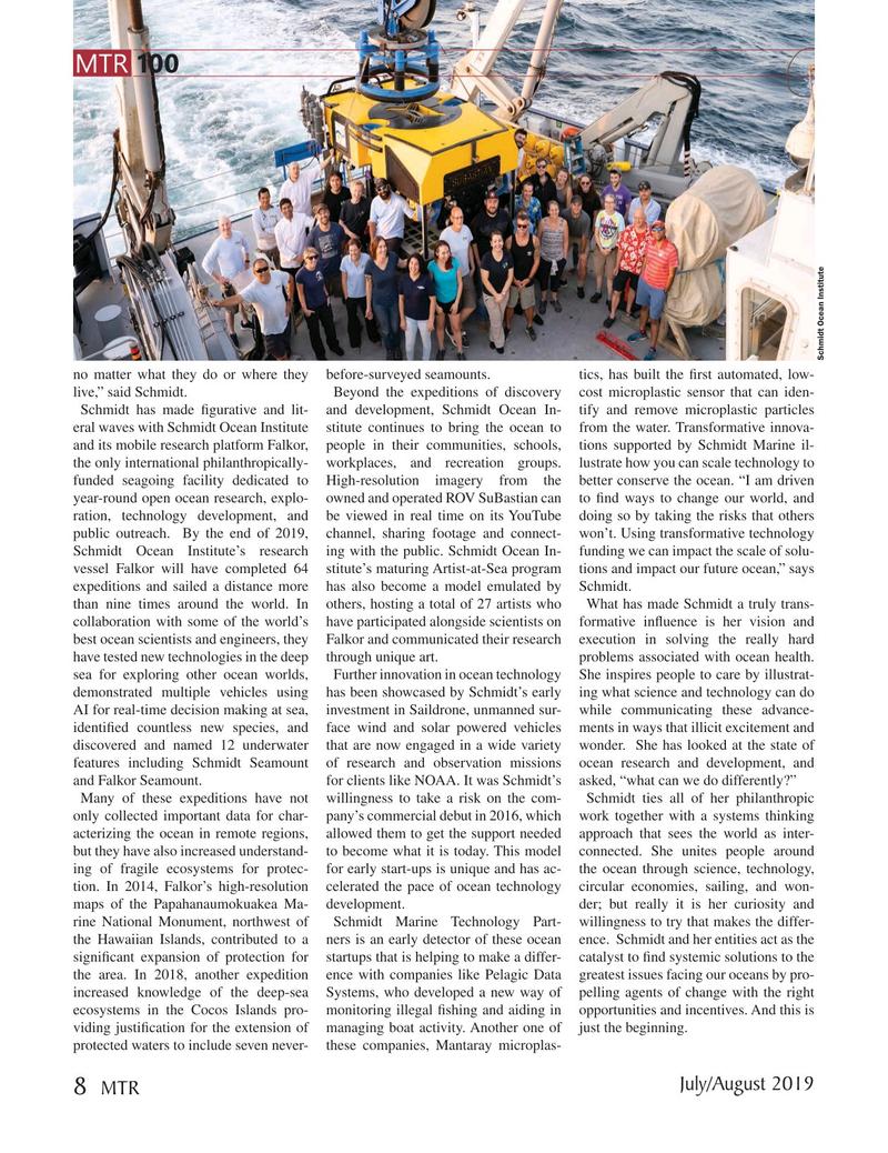 Marine Technology Magazine, page 8,  Jul 2019
