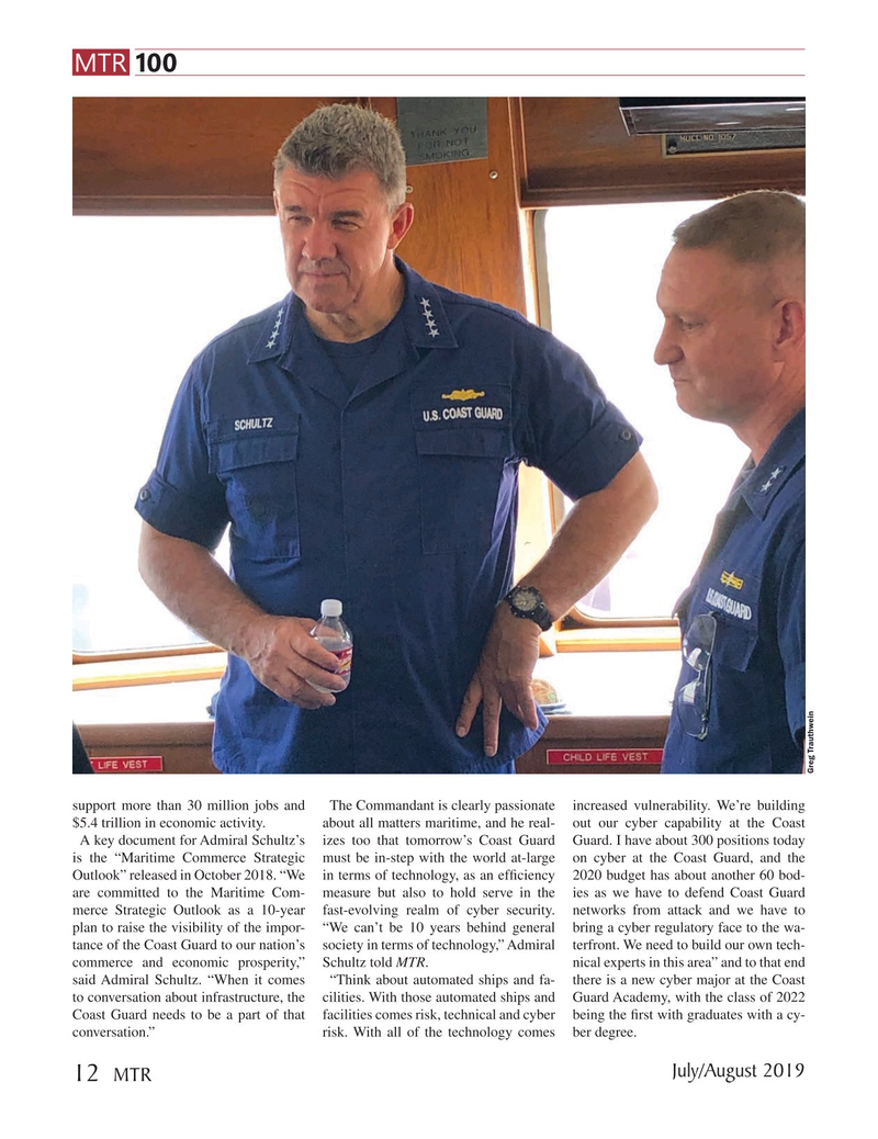 Marine Technology Magazine, page 12,  Jul 2019