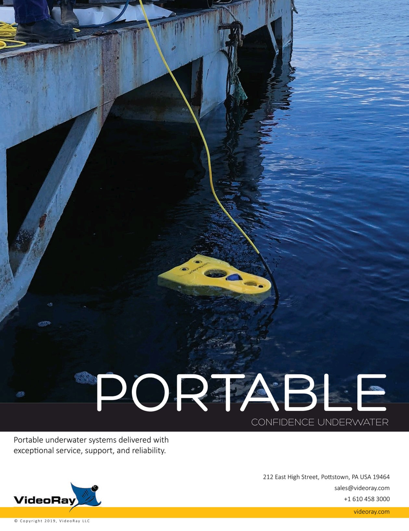 Marine Technology Magazine, page 2nd Cover,  Jul 2019