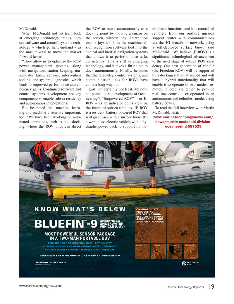 Marine Technology Magazine, page 19,  Jul 2019