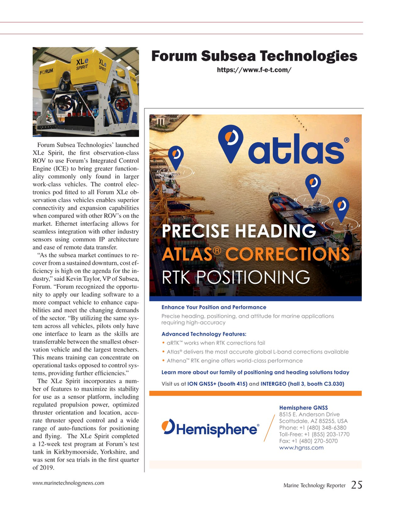 Marine Technology Magazine, page 25,  Jul 2019
