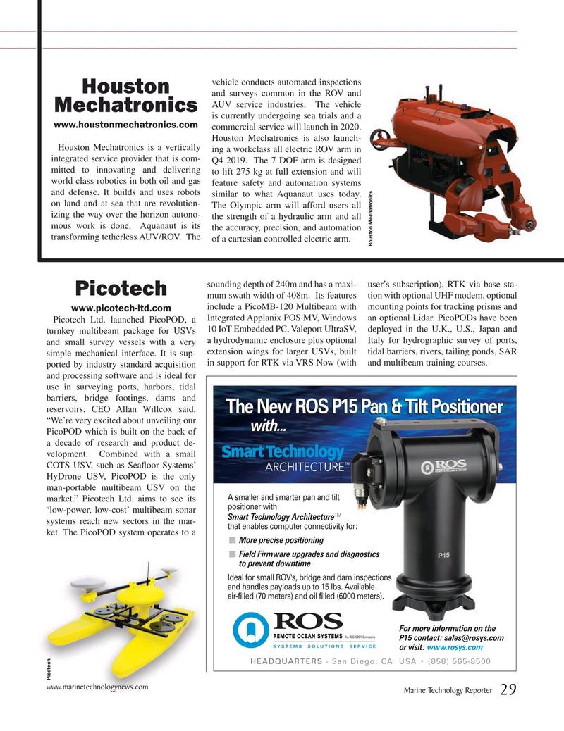 Marine Technology Magazine, page 29,  Jul 2019