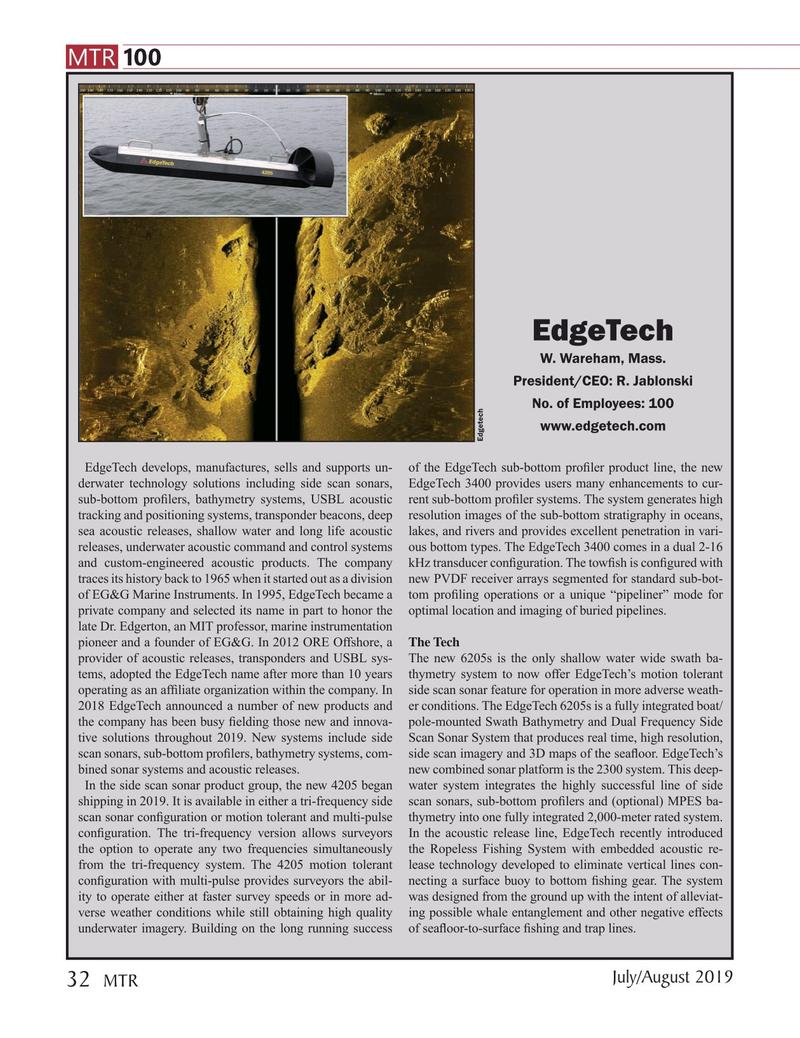 Marine Technology Magazine, page 32,  Jul 2019