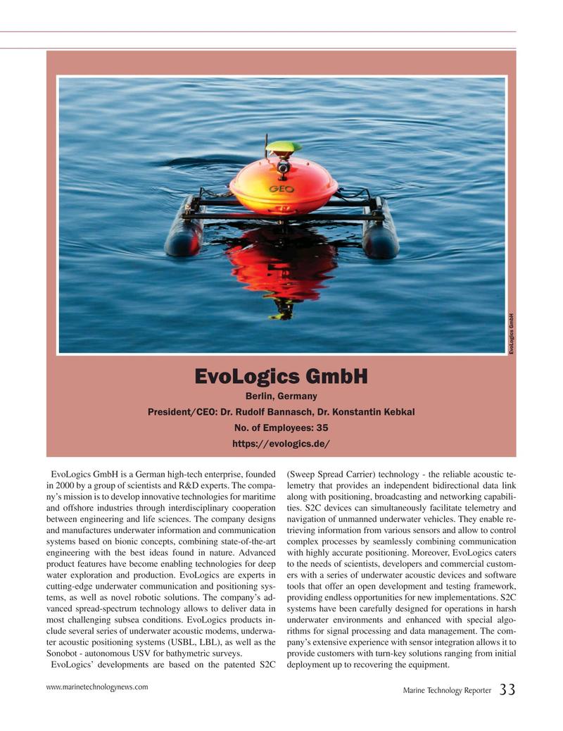 Marine Technology Magazine, page 33,  Jul 2019