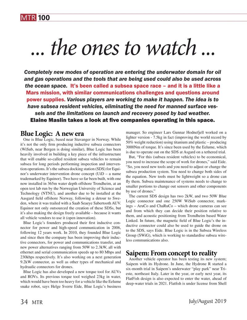 Marine Technology Magazine, page 34,  Jul 2019
