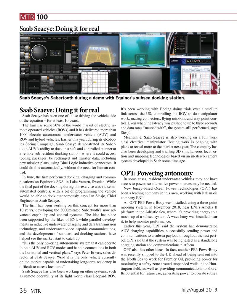 Marine Technology Magazine, page 36,  Jul 2019