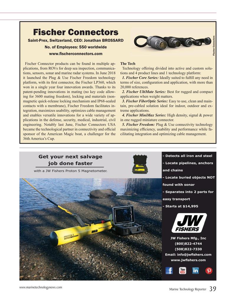 Marine Technology Magazine, page 39,  Jul 2019