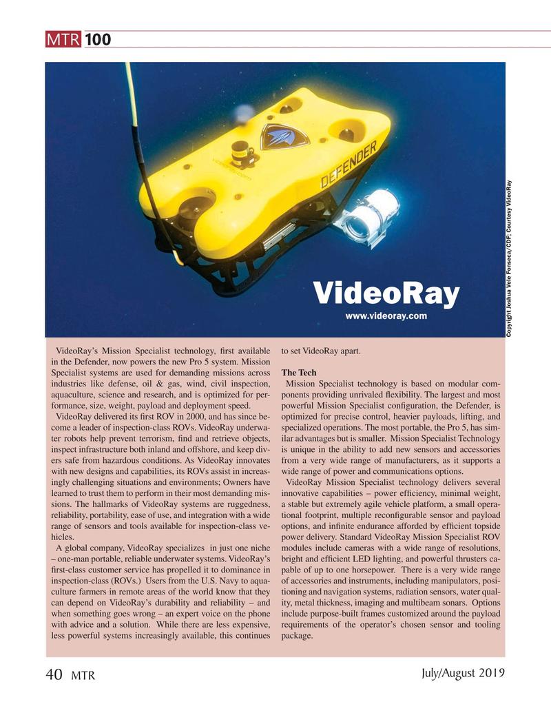 Marine Technology Magazine, page 40,  Jul 2019