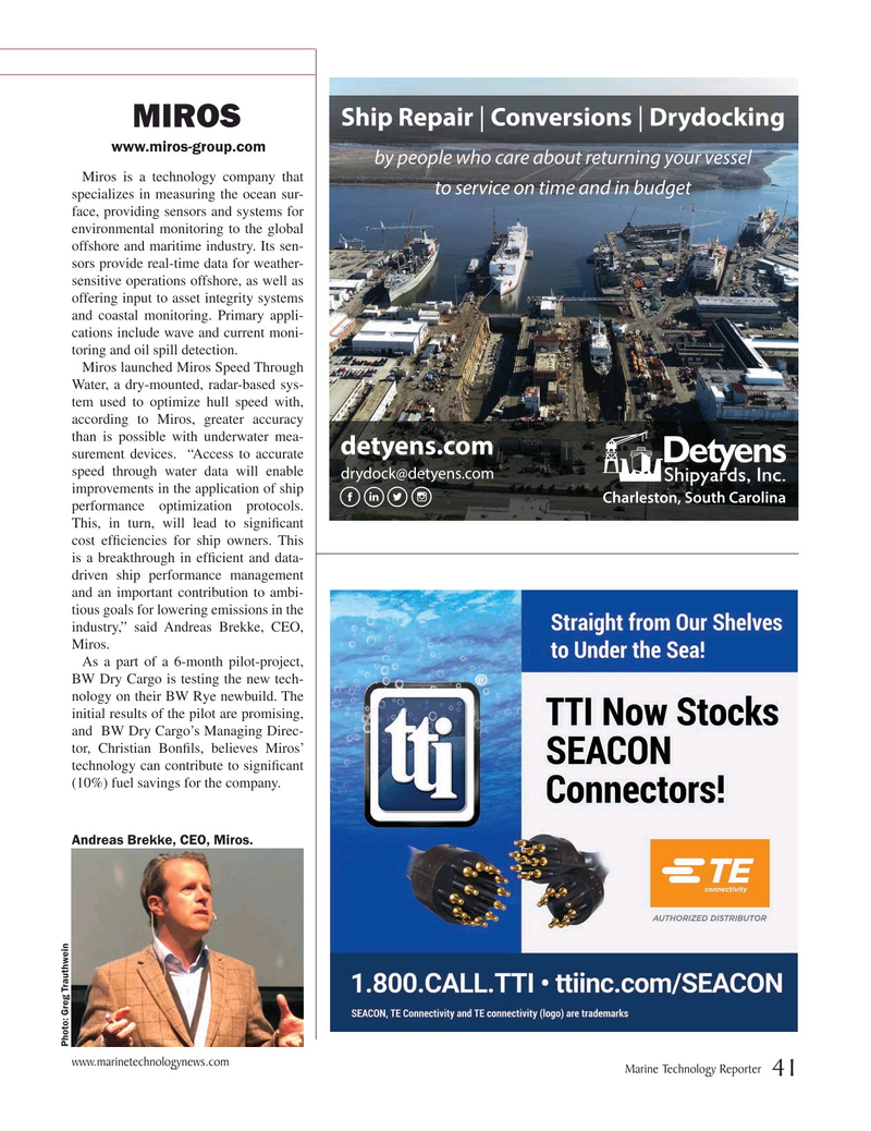 Marine Technology Magazine, page 41,  Jul 2019