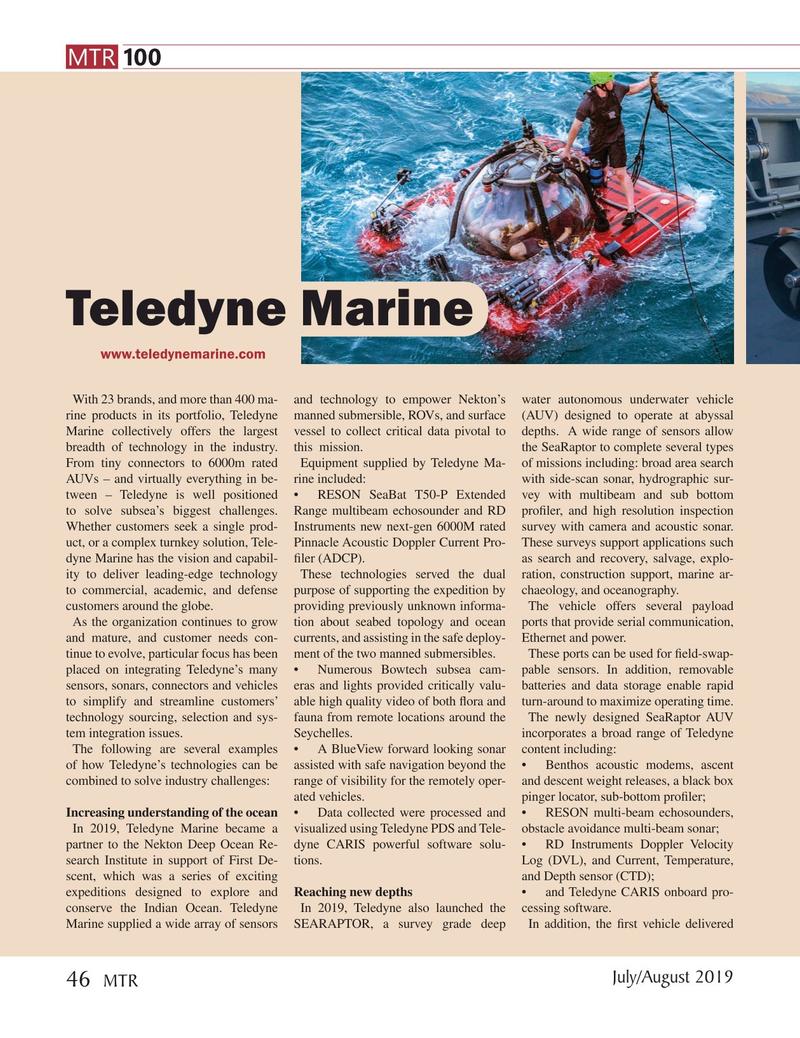 Marine Technology Magazine, page 46,  Jul 2019