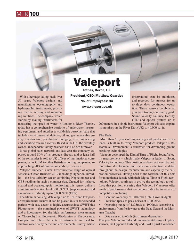 Marine Technology Magazine, page 48,  Jul 2019