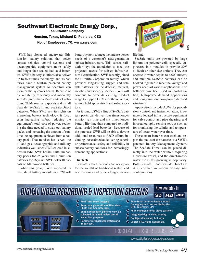 Marine Technology Magazine, page 49,  Jul 2019