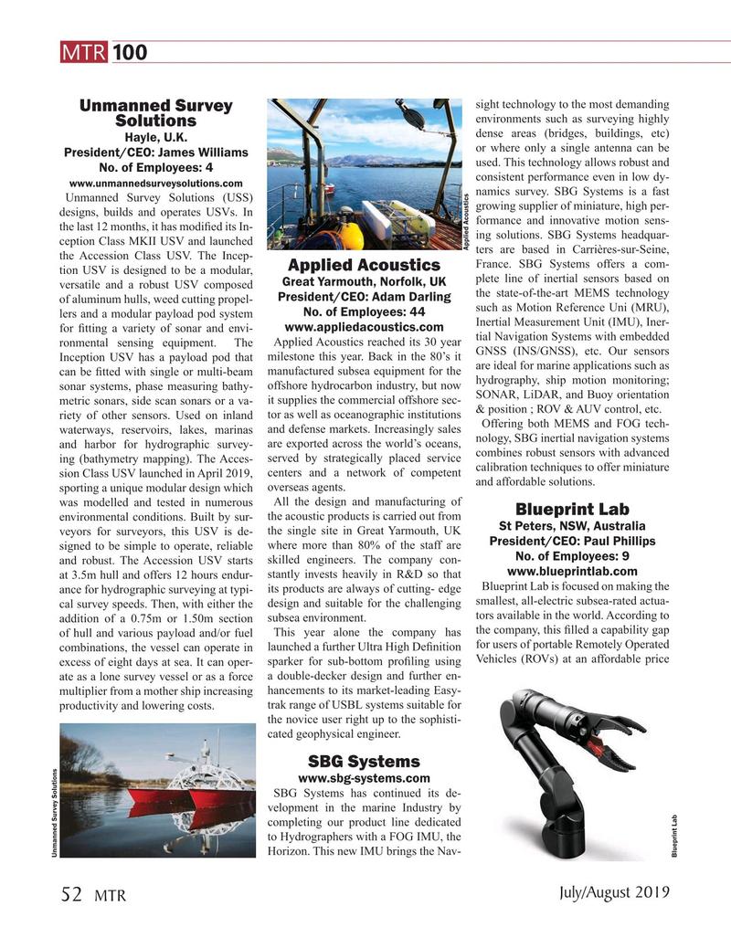 Marine Technology Magazine, page 52,  Jul 2019