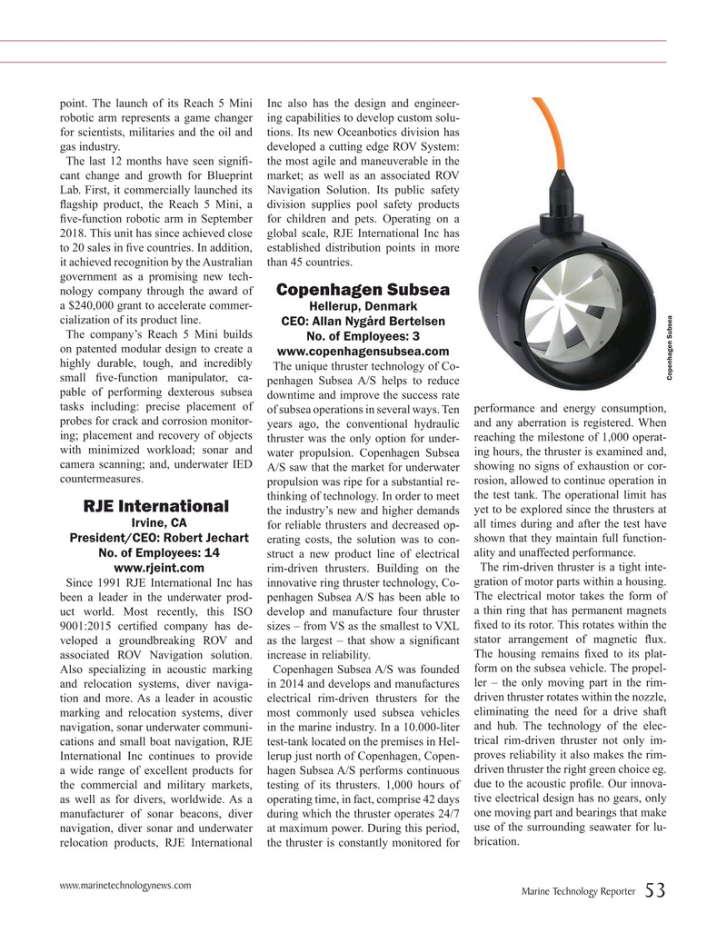 Marine Technology Magazine, page 53,  Jul 2019