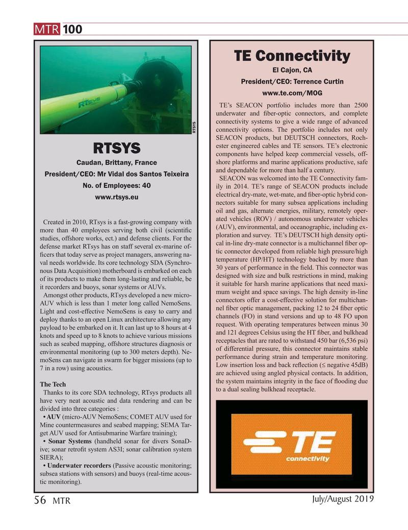 Marine Technology Magazine, page 56,  Jul 2019