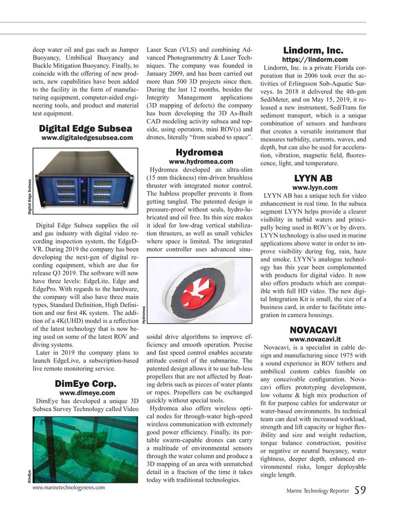 Marine Technology Magazine, page 59,  Jul 2019