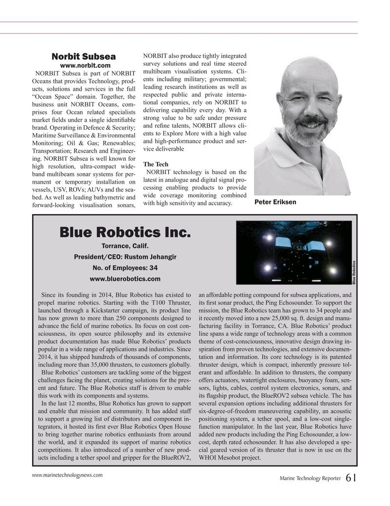 Marine Technology Magazine, page 61,  Jul 2019