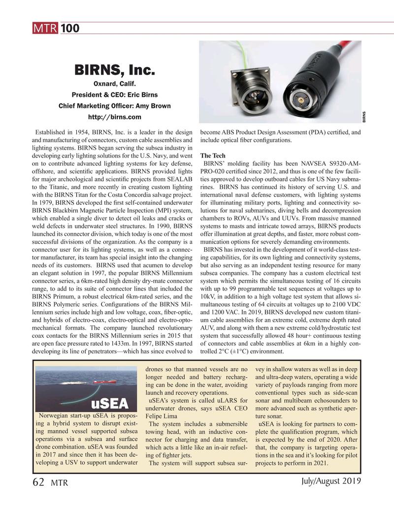 Marine Technology Magazine, page 62,  Jul 2019