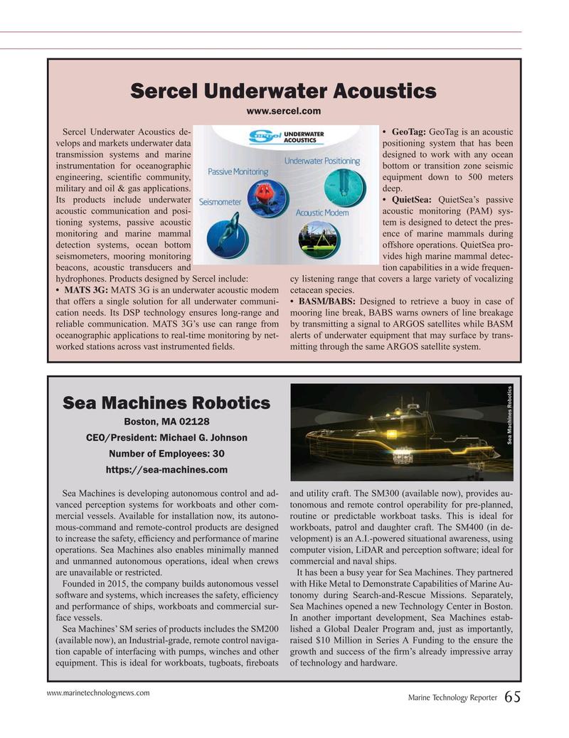 Marine Technology Magazine, page 65,  Jul 2019