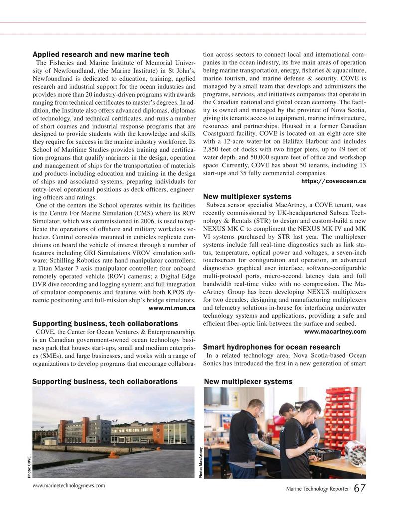 Marine Technology Magazine, page 67,  Jul 2019