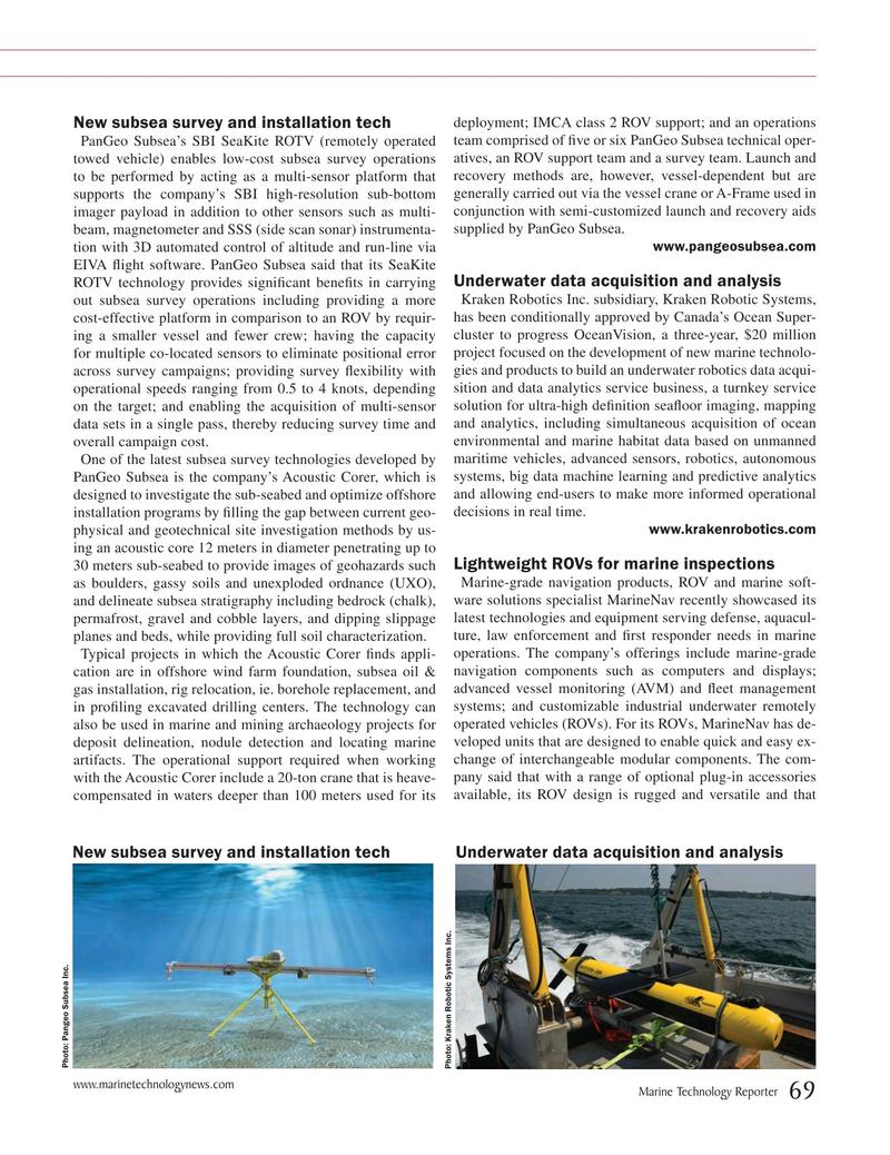Marine Technology Magazine, page 69,  Jul 2019